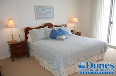 Master bedroom at Cambridge 403 - Located at Litchfield By The Sea - Oceanfront with a pool.