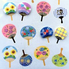 Cute Japanese Stickers Summer Theme Chiyogami by FromJapanWithLove