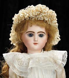 Soirée: Антикварные куклы и Automata, 14 мая: 66 Редкий французский Bisque Bebe Francais Эмилем Jumeau