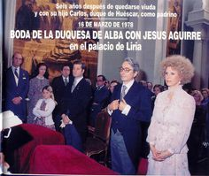 The second wedding of the Duchess of Alba in 1978. The groom was Jesus Aguirre y Ortiz de Zarate. Photo: HOLA! magazine.