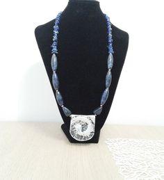 lapis lazuli necklace handmade necklace boho necklace by tizianat