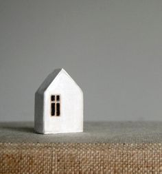 paper and things: woodwork Clay Houses, Ceramic Houses, Miniature Houses, Art Houses, Wooden Houses, Pottery Houses, Whitewash Wood, Handmade Home, Little Houses