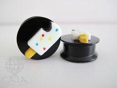 Alargador Plug com Rosca Sorvete 3D - Gaia Body Art Alargadores Piercings e Acessórios Alternativos