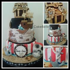 Pirate Cake:  50th Birthday.  Cake made by CakeBelle