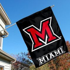 Miami University Redhawks House Flag by College Flags and Banners Co.. $23.95. Miami University Redhawks House Flag is 30x40 inches in size, is made of single-ply polyester with double-sided bottom school panel, has a top sleeve for insertion of a wood or aluminum flagpole, and the Licensed NCAA School logos are screen printed into this Miami University Redhawks House Flag.. Save 14% Off!