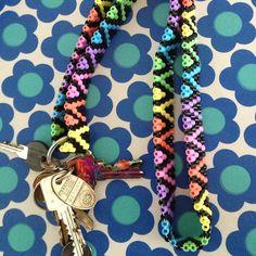 Hama bead keychain by henridarling