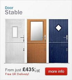 Beautiful composite stable door in red operating as two separate doors and giving you that & Example of Flint composite stable door with White interior and ... Pezcame.Com