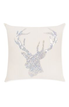 Coussin motif renne