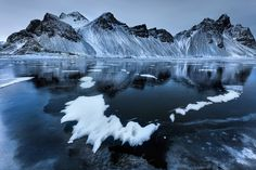 FROZEN FORTRESS - To make the viewer see a different perspective and a unique approach are one of the challenges in visual design.  Vestrahorn, Iceland