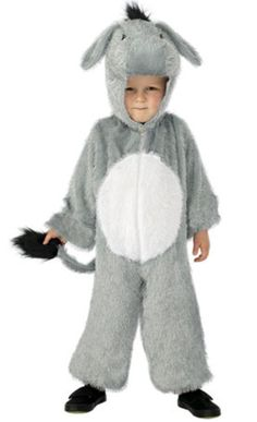 5706dad426f Girls Boy s Kids Donkey Nativity All In One Fancy Dress Animal Jumpsuit  Costume