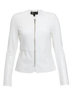 Kardashian Peplum Jacket in White