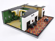 Moments from The Shining, rendered in LEGO.