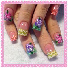Spring polka dots  by Oli123 - Nail Art Gallery nailartgallery.nailsmag.com by Nails Magazine www.nailsmag.com #nailart