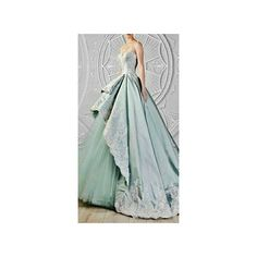 Quinceanera Dresses via Polyvore featuring dresses and green dress
