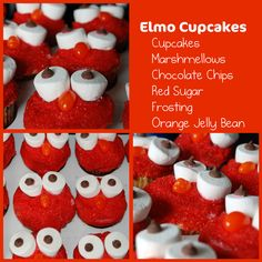 another version Orange Frosting, Sugar Frosting, Elmo Cupcakes, Elmo And Cookie Monster, Tutu Party, Sesame Street Party, 2nd Birthday Parties, Jelly Beans, Gingerbread Cookies