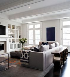 Pretty space and built ins.