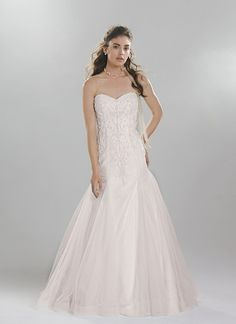 More gorgeous wedding dresses from the Lillian West Spring/Summer 2016 bridal collection. Photos courtesy of Lillian West. For details, visit Lillian West. Blush Pink Wedding Dress, 2016 Wedding Dresses, Stunning Wedding Dresses, Lace Mermaid Wedding Dress, Cheap Wedding Dress, Wedding Dress Styles, Bridal Dresses, Wedding Gowns, Wedding Gown Gallery