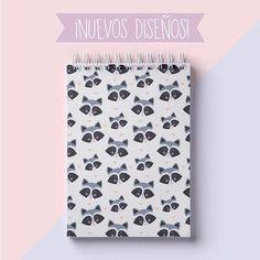 <3 Muy pero muy pronto tendremos disponible esta libreta bonita <3  .  .  .  .  .  .  .  #azulbondí #libretas #notebook #mapache #raccoon