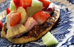 PynteMynthe og Mor: En sund snack , morgenmad eller dessert // Opskrift på havregrøds klatkager med æblemos