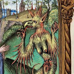 discarding images — archaeopteryx devil prayerbook, Nuremberg ca. Medieval Paintings, Renaissance Paintings, Out Of Place Artifacts, Demonology, Angels And Demons, Medieval Art, Old Master, Fantastic Art, Old Art