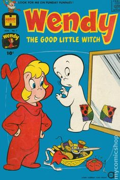 Cover for Wendy, the Good Little Witch (Harvey, 1960 series) - Forex Markt Old Comic Books, Vintage Comic Books, Vintage Cartoon, Comic Book Covers, Vintage Comics, Vintage Toys, Old Comics, Funny Comics, Cartoon Shows