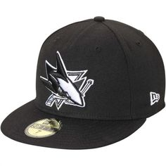 New Era San Jose Sharks Black Basic 59FIFTY Fitted Hat 7 3 4 San Jose fbecdc05525