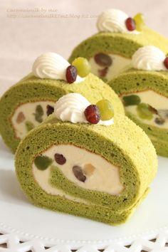 「抹茶みるくのロールケーキ」きゃらめるみるく | お菓子・パンのレシピや作り方【cotta*コッタ】