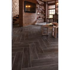 Shop STAINMASTER 6-in x 24-in Groutable Casa Italia/Gray-Brown Peel-and-Stick Travertine Luxury Vinyl Tile at Lowes.com