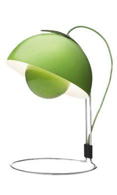 """#PDFallGiveaway VP4  Green FlowerPot table lamp - 15""""H x 9"""" diameter"""