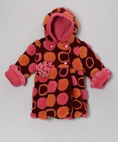 Take a look at this Raisin Polka Dot Mary-Jayne Bubble Coat - Infant & Toddler by Corky & Company on #zulily today!
