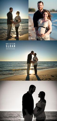 Saint Petersburg FL Couples Maternity Pregnancy Portraits at Treasure Island Beach