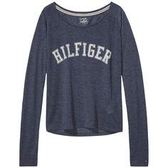 Schönes Loungewear-Basic: Nella Langarmshirt mit Rundhalsausschnitt und Hilfiger Print auf der Vorderseite. Das Logostitching befindet sich am Ärmel.65% Polyester, 35% Viskose...
