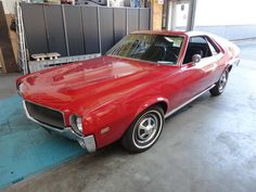 "A very nice and solid 1968 AMX/AMC. Perfectly running/driving car. Biggest choice in REAL Classic Cars in ""the Stolze Collection"" , with more than 450 in stock. 1960s House, Car Ins, Classic Cars, Vintage Classic Cars, Vintage Cars, Classic Trucks"