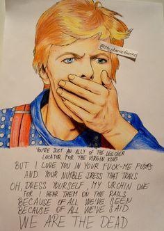 Tribute to R god Bowie, by Stephanie Gunnz