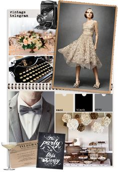 vintage telegram : back to the for a little more vintage wedding inspiration 1930s Wedding, Vintage Wedding Theme, Gatsby Wedding, Wedding Themes, Wedding Events, Dream Wedding, Wedding Receptions, Reception Ideas, Wedding Ideas