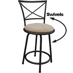 "24"" Swivel Cushioned Barstool at Big Lots. ((NEED 3))"