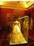 The collections of the Costume Gallery also include a group of about ninety theatre costumes belonging to the Sartoria Tirelli, which were given to the museum together with a large number of historical clothes by Umberto Tirelli. The Meridiana building, close to the gallery, is also the seat of a fabric restoration laboratory.
