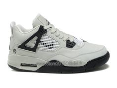 big sale 9b834 9dbbb Air Jordan 4 Retro - Basket Jordan Officiel Pas Cher Chaussure Pour Homme  Blanc Noir. Nike Air Max ...