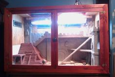 Pet Lizard Terrarium: bearded dragon castle - set up Bearded Dragon Habitat, Bearded Dragon Cage, Reptile Room, Reptile Cage, Pet Dragon, Baby Dragon, Pet Lizards, Reptiles, Lizard Terrarium