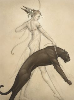 Artifacts Gallery - Goddess of the Hunt - Michael Parkes