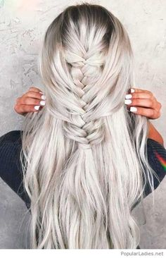Grey hair and a fish tail