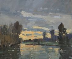 A very nice impressionist painting. The setting reminds me of London.