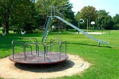 Picture of Old Fashioned Playground stock photo, images and stock photography. Research Images, Remember The Time, Merry Go Round, Good Ole, Great Memories, Back In The Day, Garden Bridge, Diy For Kids, Childhood Memories