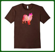 Mens SWEDISH LAPPHUND Watercolor T-Shirt, Dog Watercolor Painting 3XL Brown - Animal shirts (*Amazon Partner-Link)