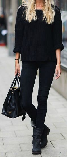 all black everything, always open for a dark and mysterious outfit!