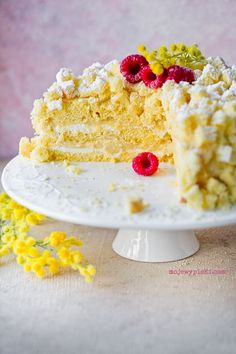 Torta Mimosa Food Cakes, Pound Cake, Cake Cookies, Vanilla Cake, Cake Recipes, Lemon, Journal, Amazing, Kitchen