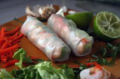 Spring rolls are the best food ever. I could eat them all day.