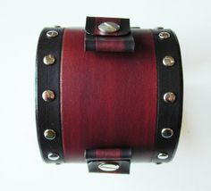 Johnny Depp studded Leather cuff watchband by carnabystore on Etsy, €27.90