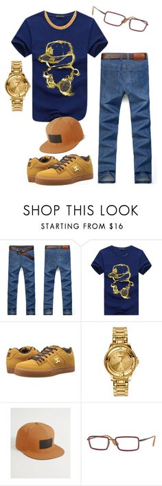 """""""Dough Boyz #417"""" by missactive-xtraordinary ❤ liked on Polyvore featuring DC Shoes, Versus, Sullen, Ray-Ban, men's fashion and menswear"""