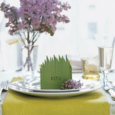 Grassy Place Card How-To